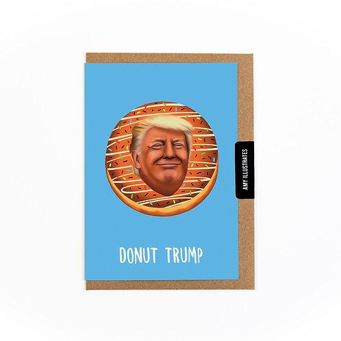 Donut Trump Greetings Card
