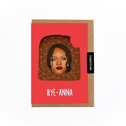 Rye-anna Greetings Card