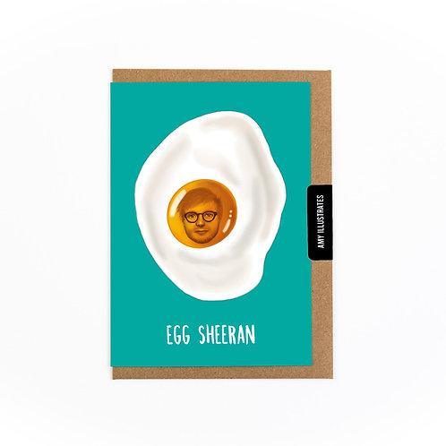 Egg Sheeran Greetings Card