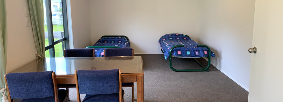 Sleepout beds and dining