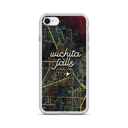Wichita Falls Map iPhone Case