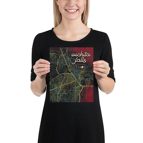 Wichita Falls Map Poster