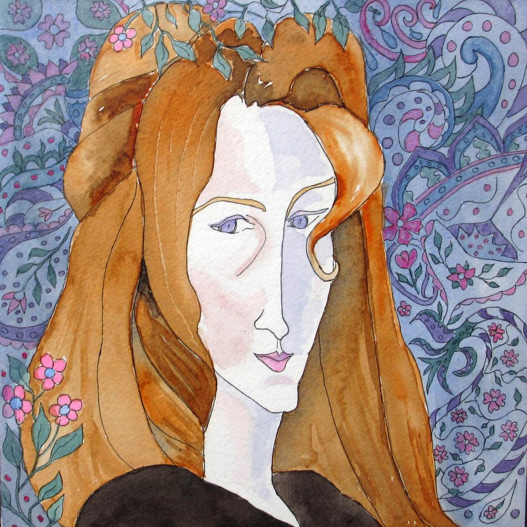 Modigliani's Paisley Maiden'