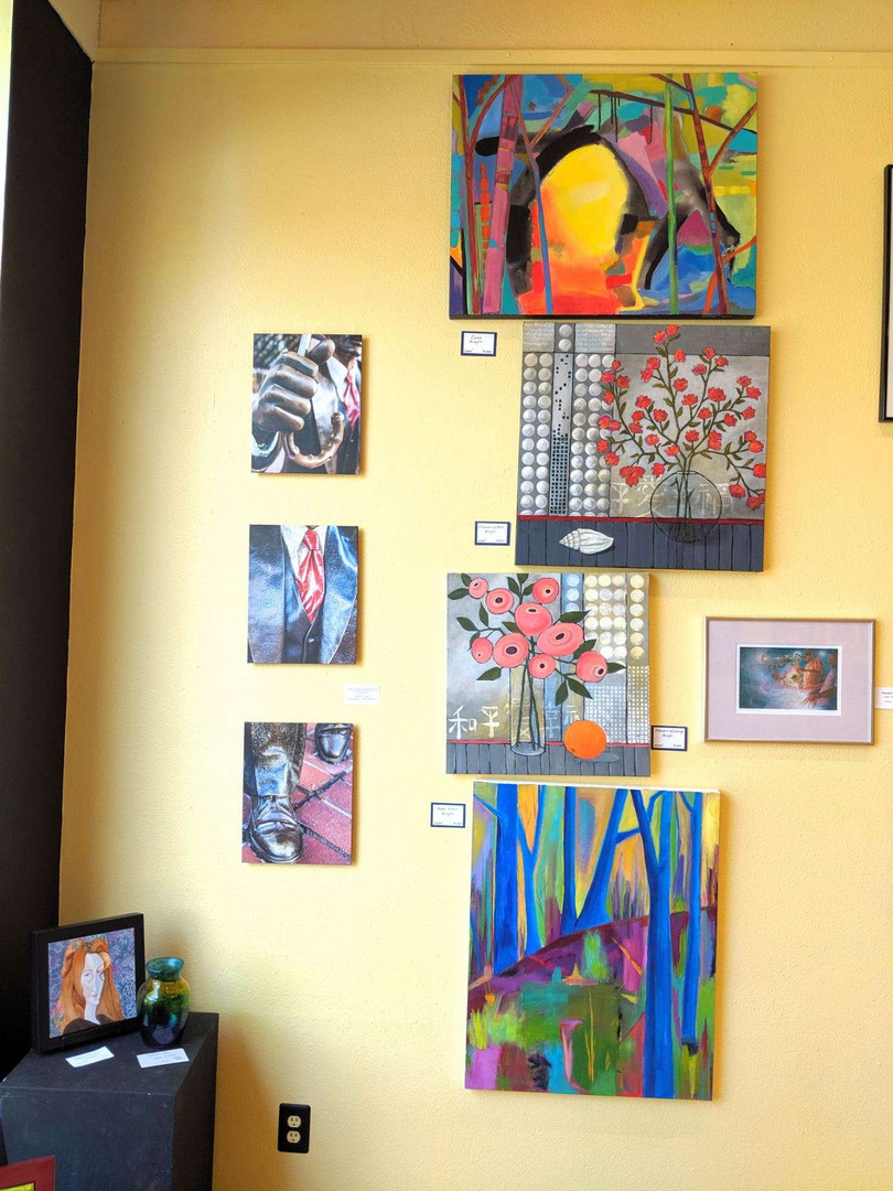 Featured work from Penne Fossa, Renee Bryant and Joan Gidding's Turley