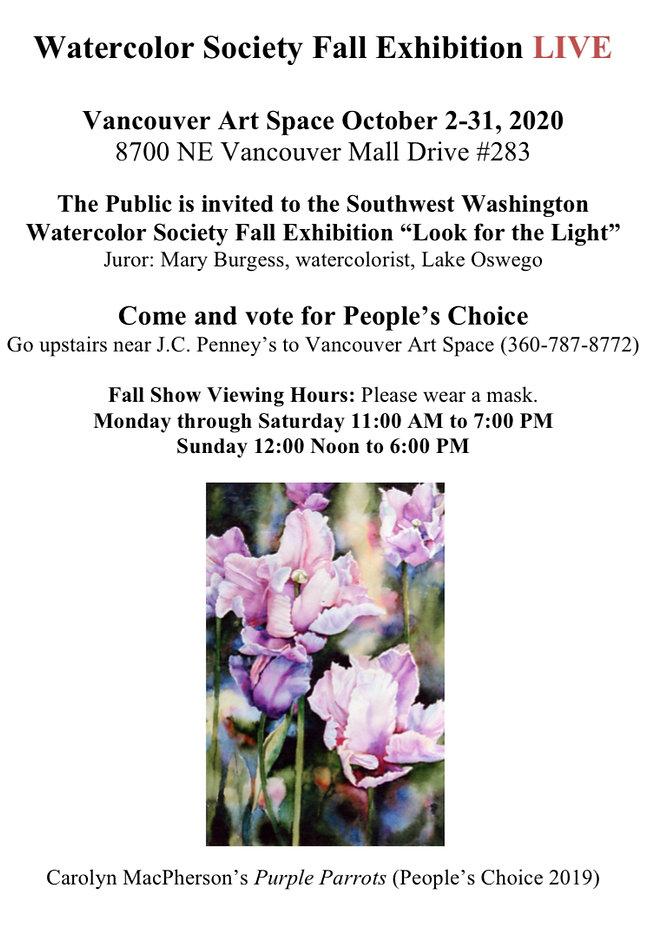 Watercolor Society Fall Show