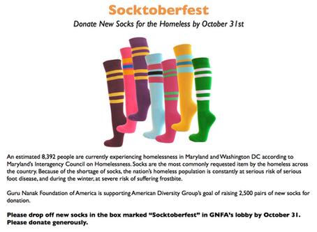Socktoberfest – Donate New Socks for Homeless