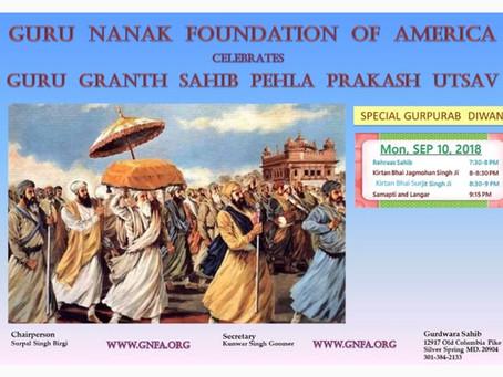 Special Diwaan – Pehla Prakash Purabh – Sept 10, 2018