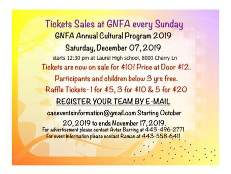 GNFA Cultural Program – Dec 7, 2019