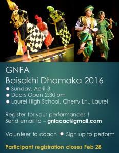 GNFA Cultural Program – Sunday, April 3, 2016