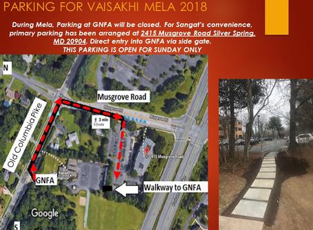 Vaisakhi Mela Parking Announcement