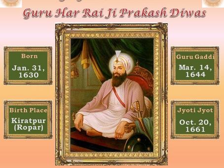 Guru Har Rai Parkash Purab – Jan 29, 2018