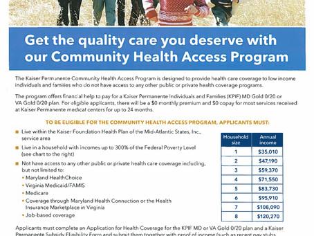 Kaiser Permanente: Free Health Insurance:  Sign-Up at GNFA – 1/11/2015