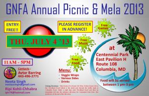 Annual GNFA Picnic 4 July 2013