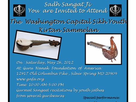 The Washington Capital Youth Kirtan Sammelan, May 26 2012