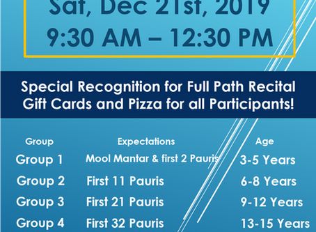Japji Sahib Paath Recital – Dec 21, 2019