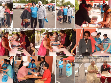 Pictures of Lab Tests, Blood Donation and Health Fair at GNFA on Sep 13 and Sep 27