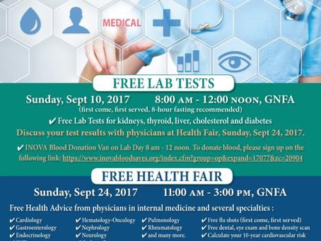 HEALTH FAIR – GNFA -September 2017