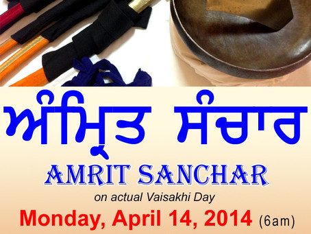 Amrit Sanchar: Monday, April 14 at 6 AM
