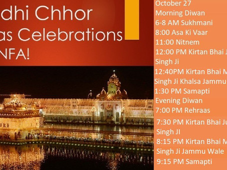 Bandi Chhor Diwas- Oct 27, 2019