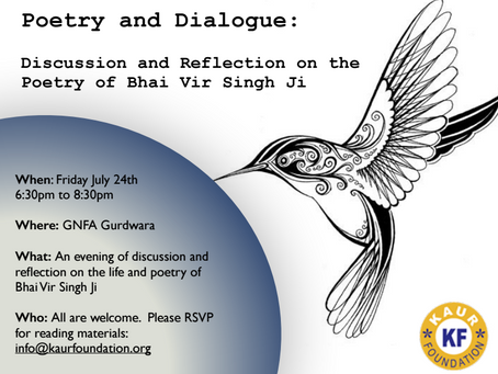 Poetry and Dialogue – July 24, 2015