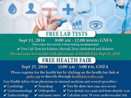 Lab Tests & Health Fair at GNFA