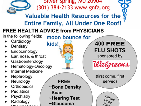 Updated GNFA Health Fair and Lab Tests Info