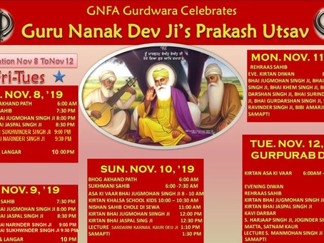 Guru Nanak Dev Ji's Gurpurabh Celebration at GNFA
