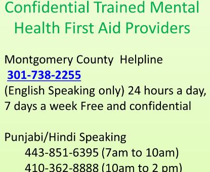 Mental Health First Aid Help
