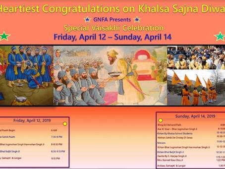 Special Vaisakhi Celebration – Friday April 12 – Sunday April 14