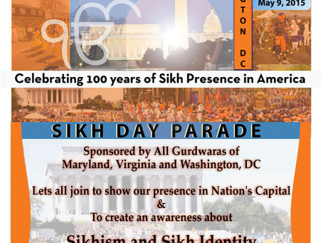 Washington DC Vaisakhi Sikh Day Parade – May 9, 2015