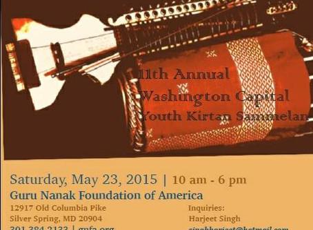 Washington Capital Sikh Youth Kitan Sammelan-May 23, 2015