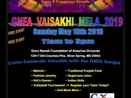 GNFA Vaisakhi Mela – May 19, 2019