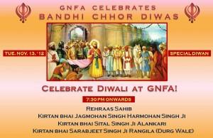 Celebrate Bandi Chhor Divas at GNFA Tuesday Nov 13, 2012