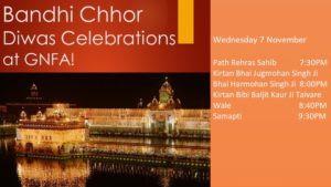 Bandi Chhor Diwas at GNFA Nov 7, 7:30-9:30