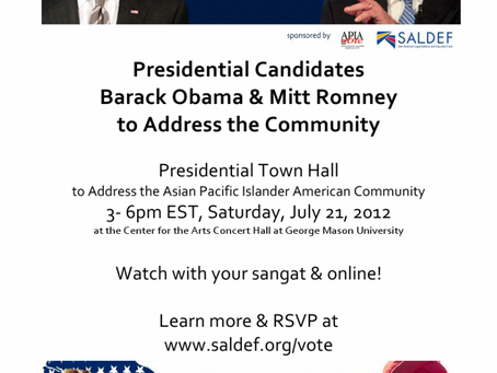 Presidential Town Hall 3- 6pm EST, Center for the Arts Concert Hall at George Mason University,Satur