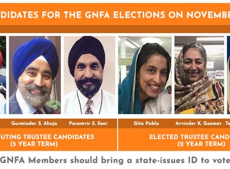 GNFA Annual Elections – Sunday Nov 17, 2019