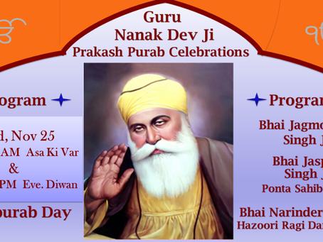Guru Nanak Sahib ji Gurpurab celebrations