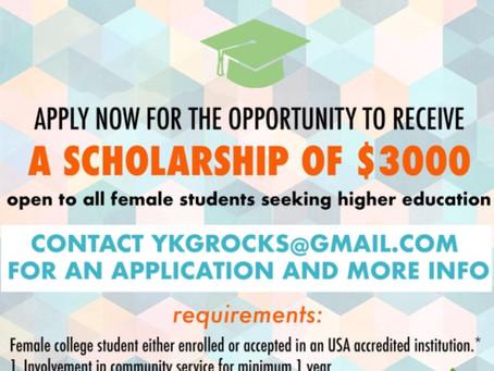 Surinder Kaur Ahuja Scholarship