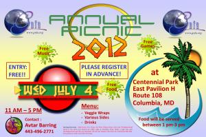 GNFA Picnic Centennial Park East Pavilion H, July 4 2012