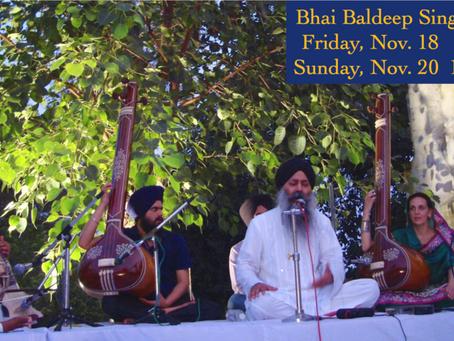 Bhai Baldeep Singh – This Friday & Sunday