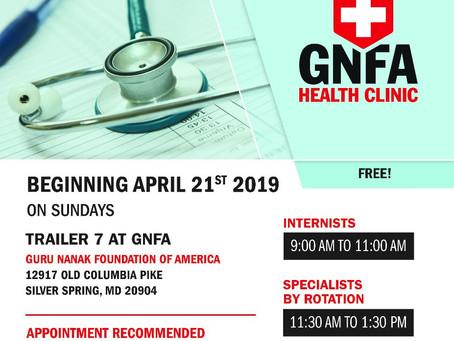 GNFA Health Clinic-August  2019 Schedule