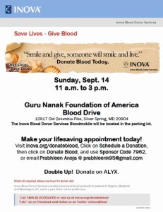 GNFA Blood Donation Drive 9/14/2014