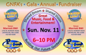 GNFA Mega Fundraiser – Sunday November 11, 2012 at the BWI Airport Marriott – [Updated]