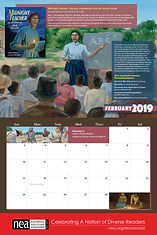 February NEA calendar featuring Midnight Teacher