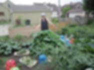Janet in her garden