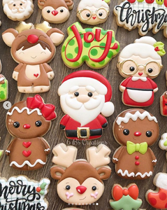6 B's Creations Holiday Cookies