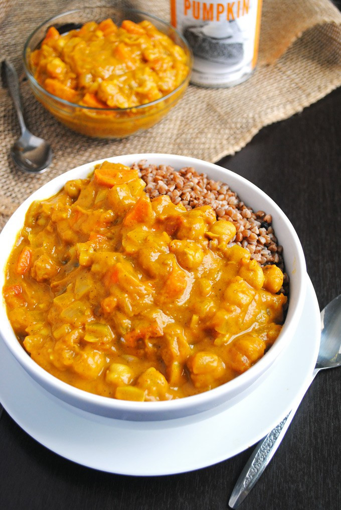 Pumpkin Chickpea Coconut Curry
