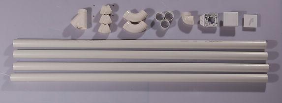 Rohre Verrohrung Möbeleinbau Schlaucheinzug Küche