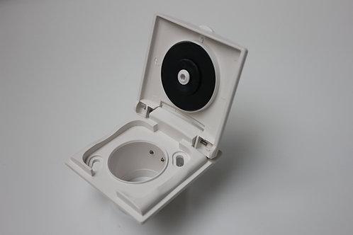 Einbausaugdose VEX-S Kunststoff 8x8, weiß