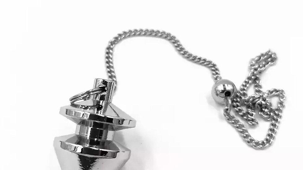 Pendule divinatoire métal  argenté
